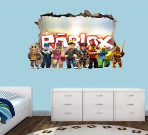 Roblox Wall Decal 3d Art Stickers Vinyl Room Home Bedroom Ebay