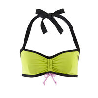 Zumba Fitness Womens Haley's Exercise Corset Halter Bra Green Size Small 34-35