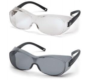 eacf26371da00 Image is loading Pyramex-OTS-Safety-Glasses-Fits-Over-Prescription-Eye-