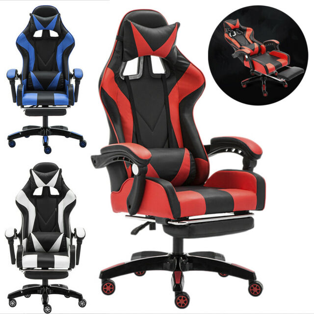 Groovy Racing Video Gaming Chair Recliner Computer Desk Pu Leather Seat W Footrest Us Ocoug Best Dining Table And Chair Ideas Images Ocougorg