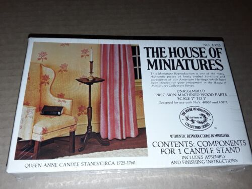 The House of Miniatures 40013 Queen Anne Candle Stand Circa 1725 1760 NEW