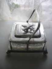 Antique SILVER PLATE SARDINE / CAVIAR SERVER DISH DEAKIN & SONS England 1886-93