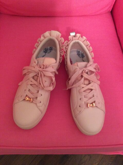 Women's Ted Baker Astrina Mink Ruffle Sneakers, Size 8
