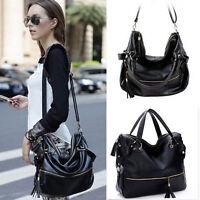 Women's cross body bag messenger bag shoulder tote bags Handbag Tassel Fringe