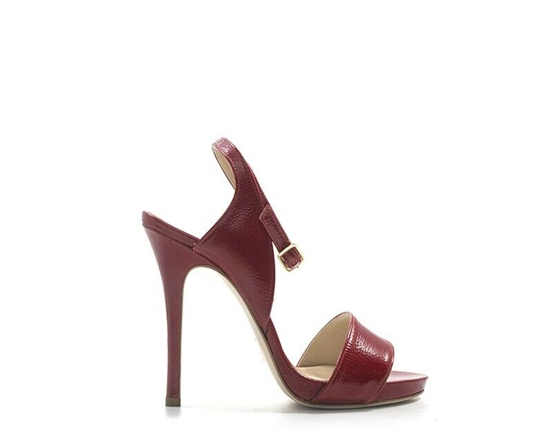 Woman shoes wo milano red leather, patent 743-ro
