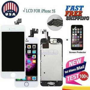 Details about For iPhone 5S LCD Touch Screen Digitizer With Home Button  Camera Replace A1453