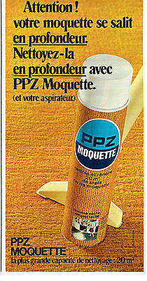 Other Breweriana Collectibles Active Publicite Advertising 084 1972 Ppz Nettoyant Moquette To Make One Feel At Ease And Energetic
