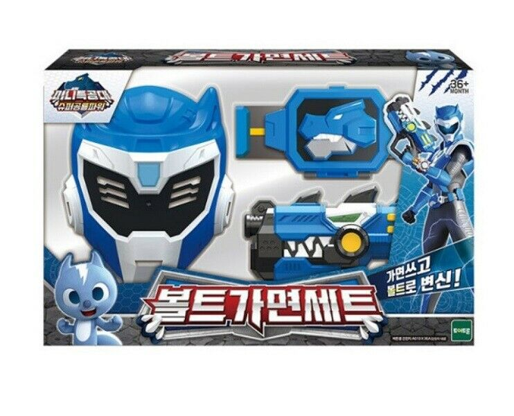 Mini Force 2019 Super Dino Power BOLT Volt MASK SET Toy Dino Gun Belt_NHJK C