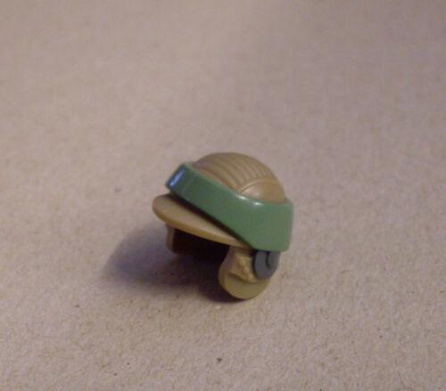 Lego Helm für Star Wars Rebel Commando Figuren grün beige tan Kommando Neu