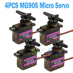 4PCS-MG90S-Micro-Servo-Metal-Gear-High-Speed-For-RC-Helicopter-Car-Boat-Futaba