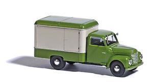 Busch-52000-Framo-V901-2-Kofferwagen-Vert-Beige-1-87-H0