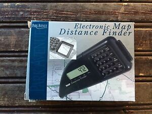Distance Finder Map Park Avenue Electronic Map Distance Finder with Magnifying Lens