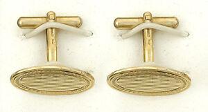 Cufflinks-Yellow-Gold-Oval-Hallmarked-Handmade