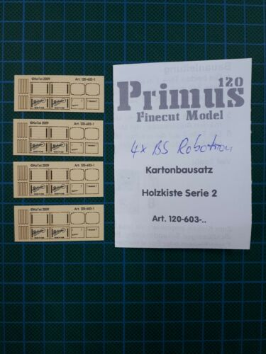 4x Kartonbausatz Holzkiste Robotron Spur TT 1:120 Kiste