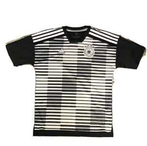 Germany Soccer Home 2018 Pre Match Shirt Adidas Parley Ocean Training Jersey EUC