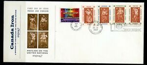 Weeda UN 170-174 Expo 67 'Canada Iron' cacheted FDC, 1967 issue