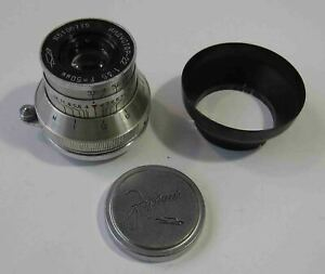 Russian-Elmar-lens-Red-034-034-INDUSTAR-22-3-5-50-camera-FED-Zorki-5106775