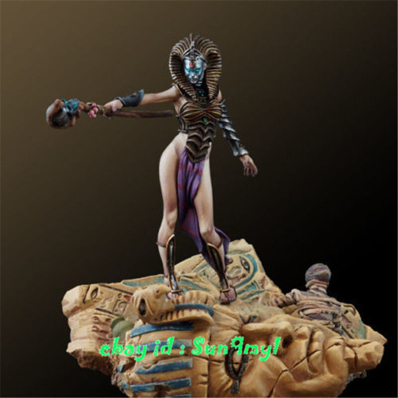 1 32 Unpainted Egypt Queen Figure Including Base Resin Model Kits GK Unassembled