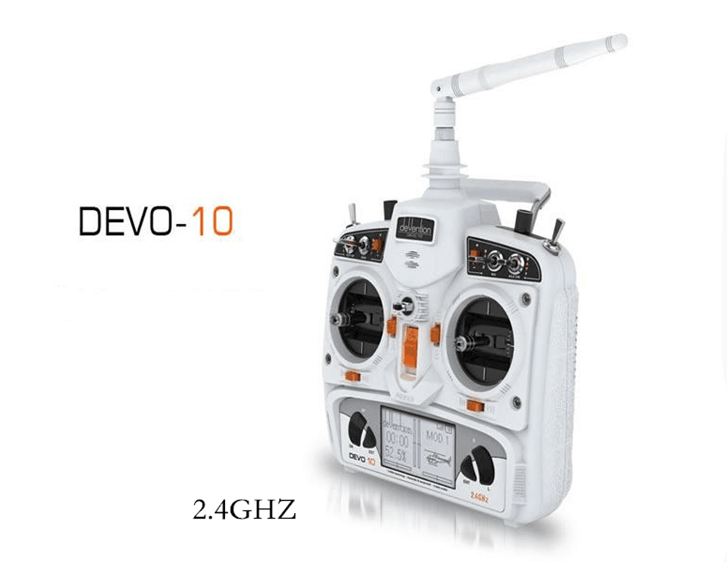 Walkera DEVO 10 10CH 2KM 2.4Ghz Telemetry Function RC Transmitter bianca