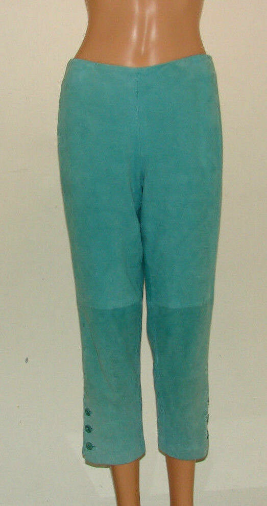 RALPH LAUREN COLLECTION SIZE 6 MADE IN USA 100% SUEDE CROPPED PANTS