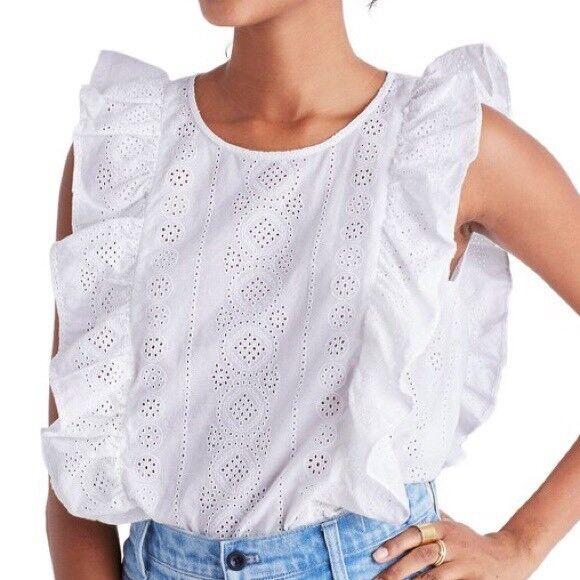 Madewell Jcrew damen Weiß Shirt Blouse Größe M G4880