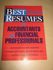 Best Resumes for Accountants & Financial Professionals by Kim Marino 1994 Book