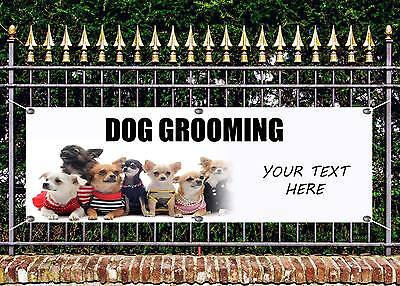 OUTDOOR PVC PROFESSIONAL DOG GROOMING BANNERS SIGN ADVERT FREE ART WORK READY