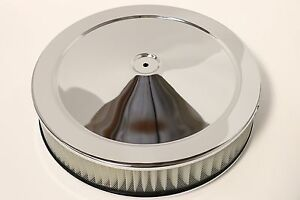 14-034-X-3-034-Round-Chrome-Air-Cleaner-Assembly-Flat-Base-Chevy-SBC-350-BBC-454-Paper