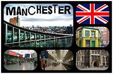 MANCHESTER, UK - SOUVENIR NOUVEAUTÉ AIMANT DE RÉFRIGÉRATEUR / NOËL / B/DAY