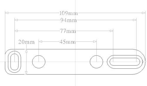 Adjustable metal butt plate pad for Air Rifle mk2 HFT sport Airgun