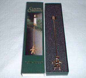 georg jensen golden christmas kerzenhalter pixie 2001. Black Bedroom Furniture Sets. Home Design Ideas