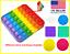 thumbnail 1 - Popit Fidget Toy Push Bubble Sensory Stress Relief Kids Family Games Square Game