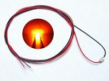 S987 - 10 Stück SMD LEDs 0805 orange mit Kabel Microlitze fertig angelötet