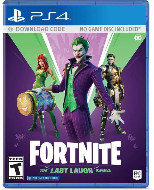 NEW Fortnite: The Last Laugh Bundle No Disc Version (PlayStation 4) PS4