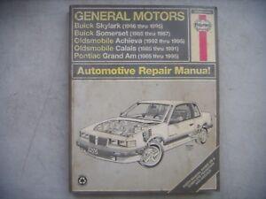 gm haynes repair manual buick skylark somerset pontiac grand am rh ebay co uk 1993 Buick LeSabre Repair Manual 99 Buick LeSabre