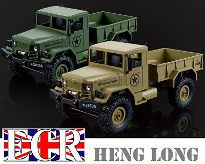 WPL 1:16 SCALE 2.4G RC 4X4 MILITARY ARMY TRUCK FWD TANK COMPAT HENGLONG VEHICLE