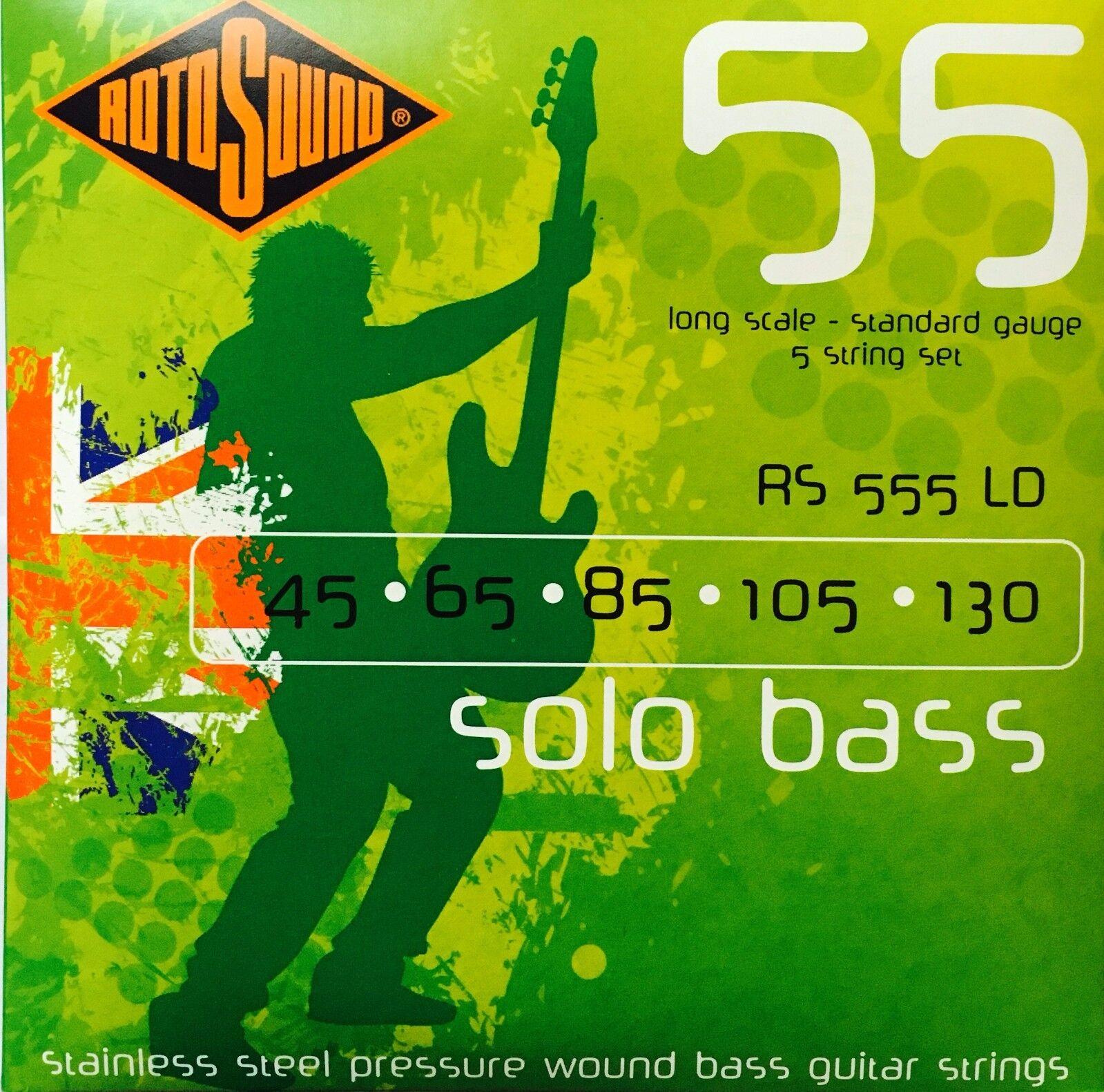 rojoosound RS555LD Solo bajo guitarra, cuerdas de (45-130) 5 Conjunto Conjunto Conjunto de Cuerdas  están haciendo actividades de descuento