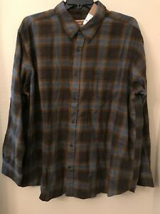 NWT Van Heusen Flex Big Tall Men/'s 3XLT Blue White Plaid Button Stretch Shirt