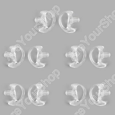 5Pair M Silicone Soft Earplug Earbud For Covert Acoustic Tube Earpiece White T2.