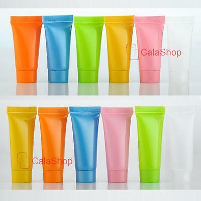 5ml 10ml Colorful Cream Tubes Cosmetic Lotion Containers Travel Sample Empty