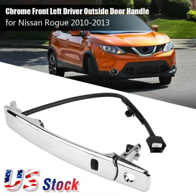 Rogue Car Front Left Outside Chrome Door Handle For 2010-2013 Nissan Smart Entry