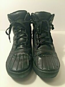 Nike-Men-039-s-Woodside-ACG-Black-Leather-Waterproof-Duck-Hiking-Ankle-Boot-Sz-8