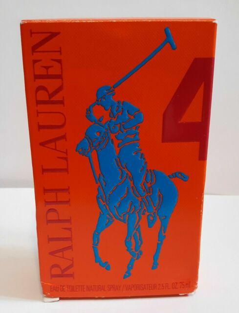 19da0109 Polo Big Pony # 4 Ralph Lauren 2.5 oz Eau De Toilette Spray for Men Orange