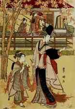 A4 Photo Toyokuni Utagawa 1769 1825 A princesss garden party Japanese Illustrati