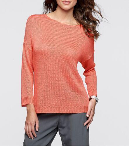 Moderne finemente Pullover lavorato a maglia con stile in Salmone-Tg 36//38-q3830-913122