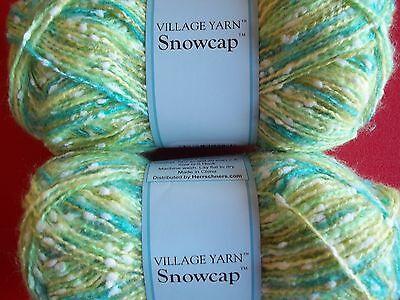 lot of 2 136 yds ea Village Yarn Snowcap textured baby yarn Fuchsia