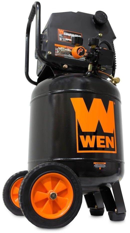 WEN Electric Air Compressor 10 Gal. Oil-Free greenical Wheels Portable Pressure