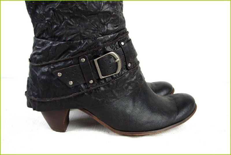 Very pretty Boots BOCAGE Leather Dark Brown T 39 TOP TOP TOP CONDITION 79b1cc