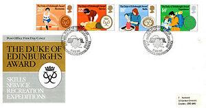 12-AUGUST-1981-DUKE-OF-EDINBURGH-AWARDS-PO-FIRST-DAY-COVER-RAF-HALTON-SHS