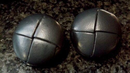 """3//4/"""" 23.5 mm ou 1 3//4/"""" 28 mm gris foncé Cuir Football Style Boutons tige arrière"""